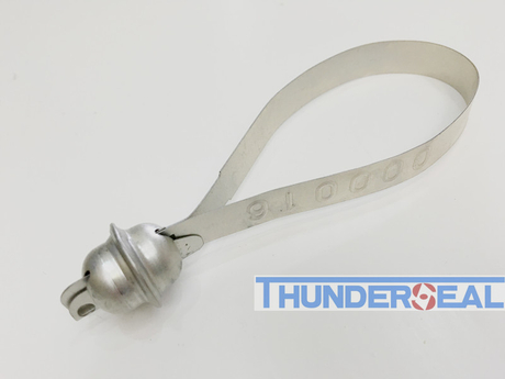 Fixed length metal strap seal