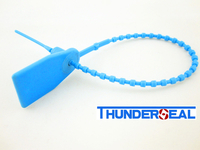 Tug tight seal with bead-shaped tail
