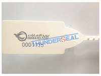 plastic seal with laser printed