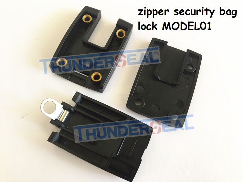 Zipper lock seal for carrier security bag